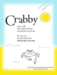 funny summer children s poem about a crab on the beach great for