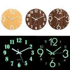 Digital Number Wall Clock DIY 3D Silent Clock Glow Dark Acrylic ...