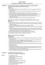 Pediatric Occupational Therapist Resume Samples Velvet Jobs