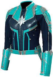 captain marvel faux leather jacket captain