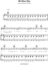 mr blue sky piano sheet music free