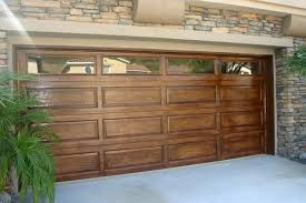 wood garage door. Faux Wood Garage Door. I Just Did Our Door This Spring. Only $40 For A Quart Of Mustard-yellow Paint And 2 Quarts Gel Stain (2 Different Colors) .