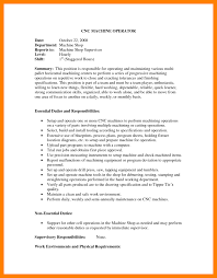 7 Machine Operator Resume Sample Budgets Examples