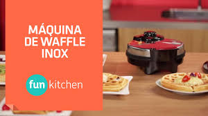 Fun Kitchen Maquina De Waffle Fun Kitchen Inox Shoptime Youtube