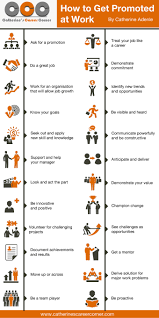 infographic how to get promoted at work catherine s career how to get promoted at work