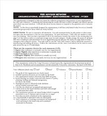 Organizational Assessment Template Beauteous 44 Organizational Assessment Templates Sample Templates