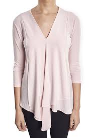 Joseph Ribkoff Size Chart Us Joseph Ribkoff Powder Pink Asymmetrical V Neck Tunic Top Us