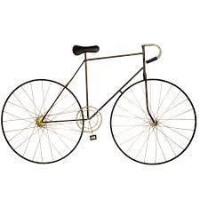 large metal bicycle wall art