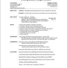 Resume Format Undergraduate Format Resume Resumeformat
