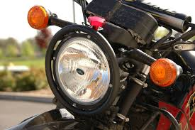 650 Light Photo Halogen Race Light Kawasaki Klr 650 Close Up