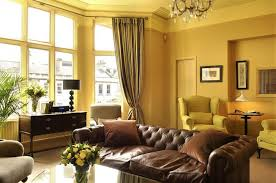 Paint Colors For Living Room With Dark Brown Furniture Living Room Dark Brown Leather Sofa Decorating Idea Color Schemes