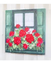 outdoor canvas art. Geranium Window Box Outdoor Canvas Wall Art. \ Art