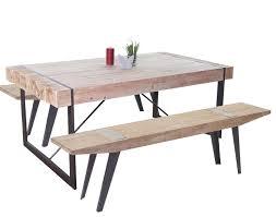 Esszimmergarnitur Hwc A15b Esstisch 2x Sitzbank Tanne Holz
