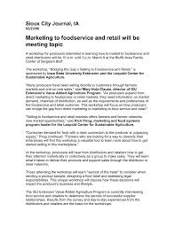 Sales Meeting Topic Marketing To Foodservice And Retail Will Be Meeting Topic