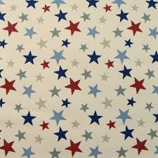 Curtain Fabric Marson Imports Funky Stars Red Blue Curtain Fabric Closs Hamblin