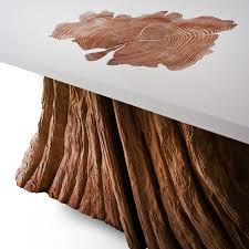 Coffee Table Tree Bloom Coffee Table A Salvaged Cedar Tree Base Is Fused With A