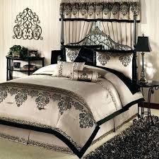 decoration echo bedding bansuri comforter sets and set black bed bedroom white blue gold