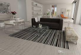 striped black gray and white leather area rug design patchwork cowhide rug canada 2019 from rugfur cad 872 66 dhgate canada