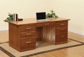 amish made executive desk with raised panel back