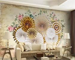 Beibehang Aangepaste Behang 3d Muurschildering Retro Stereo Ronde