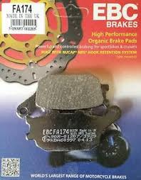 Ebc Motorcycle Brake Pads Application Chart Fa174 Organic Rear Ebc Brake Pads For Honda