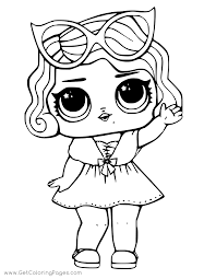 Lol Surprise Doll Coloring Glitter Cosmic Queen Get Coloring Pages