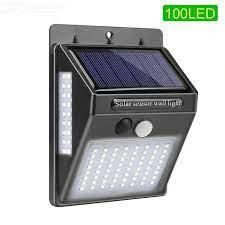 outdoor motion sensor light 100led