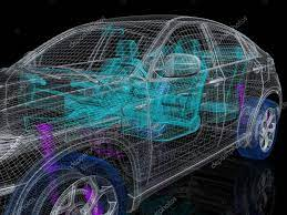 3d car drawing ⬇ Stock Photo, Image by ...