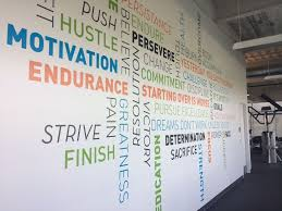 wall murals for office. Wall Mural In The Gym At Progressive Leasing\u0027s Corporate Office - Leasing Draper, Murals For O
