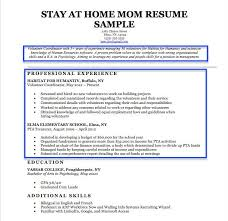 Homemaker Resume Sample Enchanting Resume For Stay At Home Mom Lovely 48 Awesome Resume For Homemaker