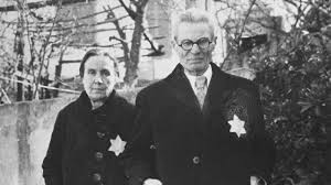 a timeline of the holocaust my jewish learning a jewish couple wearing the yellow star poses on a street in salonika in 1942 or 1943 united states holocaust memorial museum courtesy of flora carasso