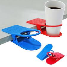 plastic table desk drink coffee cup bottle holder clip random