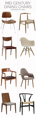 this is a great chart of diffe chair styles to apply in a mid century home at my dining room table i would like a mixture of two diffe styles