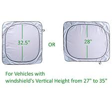 Windshield Size Chart Windshield Sun Shade Suv Sunshade Car Minivan Truck