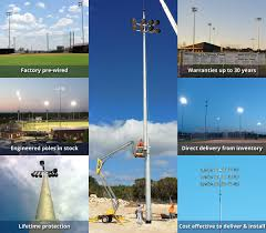 all poles are engineered to provide lifetime protection against exposure to the elements and techline sports lighting offers the best warranties in the