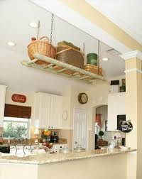 reclaimed pallet kitchen rack