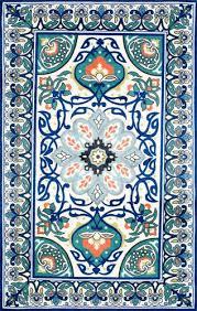 nuloom fl leda blue area rug 3 x 5