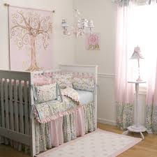 outstanding light pink girl baby nursery rooms decoration using light pink grey fl baby bed valance including light pink blue baby bedding set and