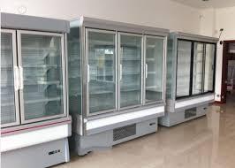 jae cool double glass door upright freezer