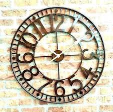 outdoor wall clocks outside clocks garden garden wall clock outdoor wall clocks with temperature