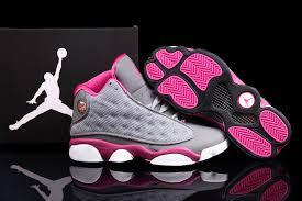 jordan shoes for women. nike air jordan 13 shoes women\\\u0027s grey fusion pink for women n