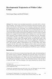 developmental trajectories of white collar crime springer the criminology of white collar crime