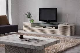 beige limestone tv stand table