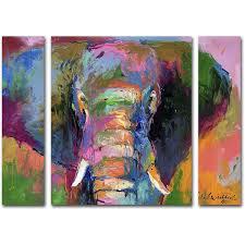 on 3 panel wall art set with richard wallich elephant 2 multi panel art set walmart