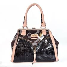 Coach Madison Carrie Embossed Medium Coffee Satchels ADF