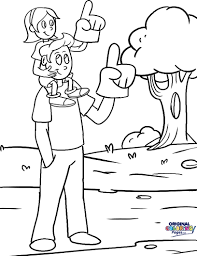 fathers day 2 in father and daughter coloring pages