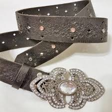 Miss Me Belt Size Chart Miss Me Black Rhinestone Filigree Leather Belt