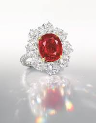 only those rubies of exceptional saturation and natural red fluorescence can be deemed as pigeon s blood it is particularly rare of a ruby of this quality