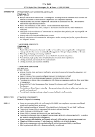 Tax Senior Associate Resume Samples Velvet Jobs