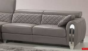 grey leather sectional couch awesome grey leather sofa